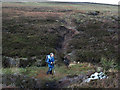 NY9105 : Footpath crossing Lad Gill by Trevor Littlewood