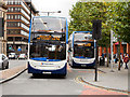 SJ8498 : The 192 Bus Route in Manchester City Centre by David Dixon