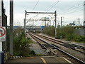 TQ4982 : Railway east of Dagenham Dock by Robin Webster