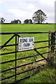 SK1577 : Entrance to Rising Sun Farm, near Tideswell by Neil Theasby
