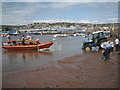SX9372 : The lifeboat nears the shore, Teignmouth by Robin Stott