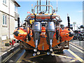 SX9372 : Stern of the Teignmouth lifeboat, Lifeboat Lane, Teignmouth by Robin Stott