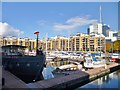 TQ3480 : Wapping, marina by Mike Faherty