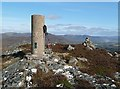 NN6692 : The trig point on Cruban Beag by Walter Baxter