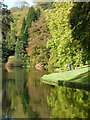 ST7734 : Stourhead: reflections on the lake by Chris Downer