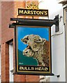 SJ8497 : Sign of the Bulls Head by Gerald England