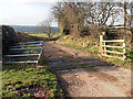 SJ9359 : Cattle Grid on the way to the farm by Row17