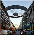 TQ2881 : 2012 Christmas Lights in Oxford Street by PAUL FARMER