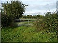 SK2024 : Gate into field, north side of Hanbury Road by Christine Johnstone