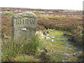 SK2394 : R H R W boundary stone by Dave Pickersgill