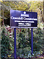 SP8237 : Crownhill Crematorium Sign by Adrian Cable