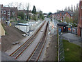 SJ8491 : Didsbury Village Metrolink Stop Under Construction by Richard Cooke