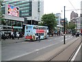 SJ8498 : Buses at Piccadilly Gardens by Paul Gillett