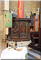 TQ3182 : St Mark, Myddelton Square, Clerkenwell - Pulpit by John Salmon
