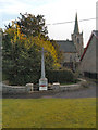 NY6665 : Greenhead War Memorial and St Cuthbert's Church by David Dixon