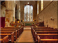 NY5563 : Lanercost Priory Church (Nave and East Window) by David Dixon