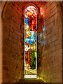 NY5563 : Lanercost Priory Church, Stained Glass Window : Week 42