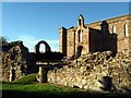 NT9065 : Looking over the ruins at Coldingham Priory by jim and liz denham