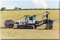 SU4834 : Bron V250 Cable Plough by Peter Facey