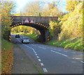 SO6811 : A48 railway bridge near Newnham-on-Severn by John Grayson