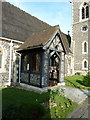 TQ0283 : St Margaret of Antioch, Iver Heath, Porch by Alexander P Kapp