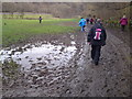 SK1869 : Muddy track by the River Wye by Chris Morgan