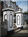 SX9473 : Gate pillars, Hill Rise, Winterbourne Road by Robin Stott