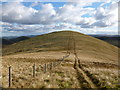 NT1240 : Col between Green Law and Pyked Stane Hill by Alan O'Dowd