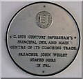 TR0161 : The Ship Hotel  plaque, Faversham by David Anstiss