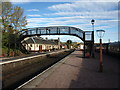 NH9418 : Footbridge at Boat of Garten railway station by Andrew Abbott