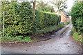 SP8427 : Footpath up the lane past Grange Farm to Drayton Parslow by Philip Jeffrey