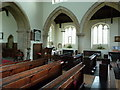 TL1864 : St Leonard's Church Southoe, Interior by Alexander P Kapp