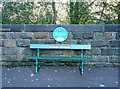 SE0318 : Seat from the former Rishworth Station by Humphrey Bolton