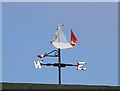 NT2420 : St Mary's Loch Sailing Club Weather Vane by Walter Baxter
