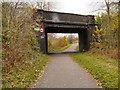 SJ8894 : Fallowfield Loop Line, Bridge at Longford Road East by David Dixon