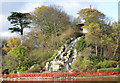 TA0389 : Pagoda and cascade, Peasholm Island by Pauline Eccles