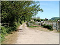 SO5012 : Road along the western edge of Monmouth Allotments by John Grayson
