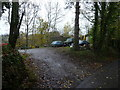 SO6775 : Yard off Pinkham Lane, Cleobury Mortimer by Jeremy Bolwell
