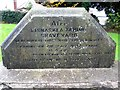H3633 : Inscribed stone, Lisnaskea Famine Graveyard by Kenneth  Allen