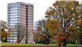 J3581 : Woodland House, Rushpark, Newtownabbey by Albert Bridge