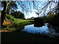 SP3645 : Pool in the gardens of Upton House by Peter Barr