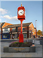 SJ9098 : Town Clock, Villemomble Square by David Dixon