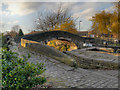 SJ9097 : Ashton Canal, Bridge at Fairfield Lock by David Dixon