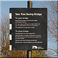 SJ8997 : Yew Tree Swing Bridge Instructions by David Dixon