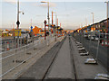 SJ8998 : Edge Lane Tram Stop by David Dixon
