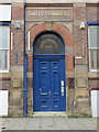 SJ3390 : Doorway, Irwell Chambers East by John S Turner