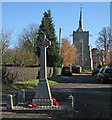 TL4945 : Hinxton Church and War Memorial : Week 47