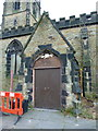 SD9104 : St John's Church, St John's Street, Oldham, Porch by Alexander P Kapp