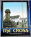 SO6101 : Pub sign, The Cross, Aylburton by John Grayson