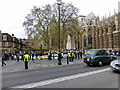 TQ3079 : Demonstration Opposite The Houses of Parliament by PAUL FARMER
